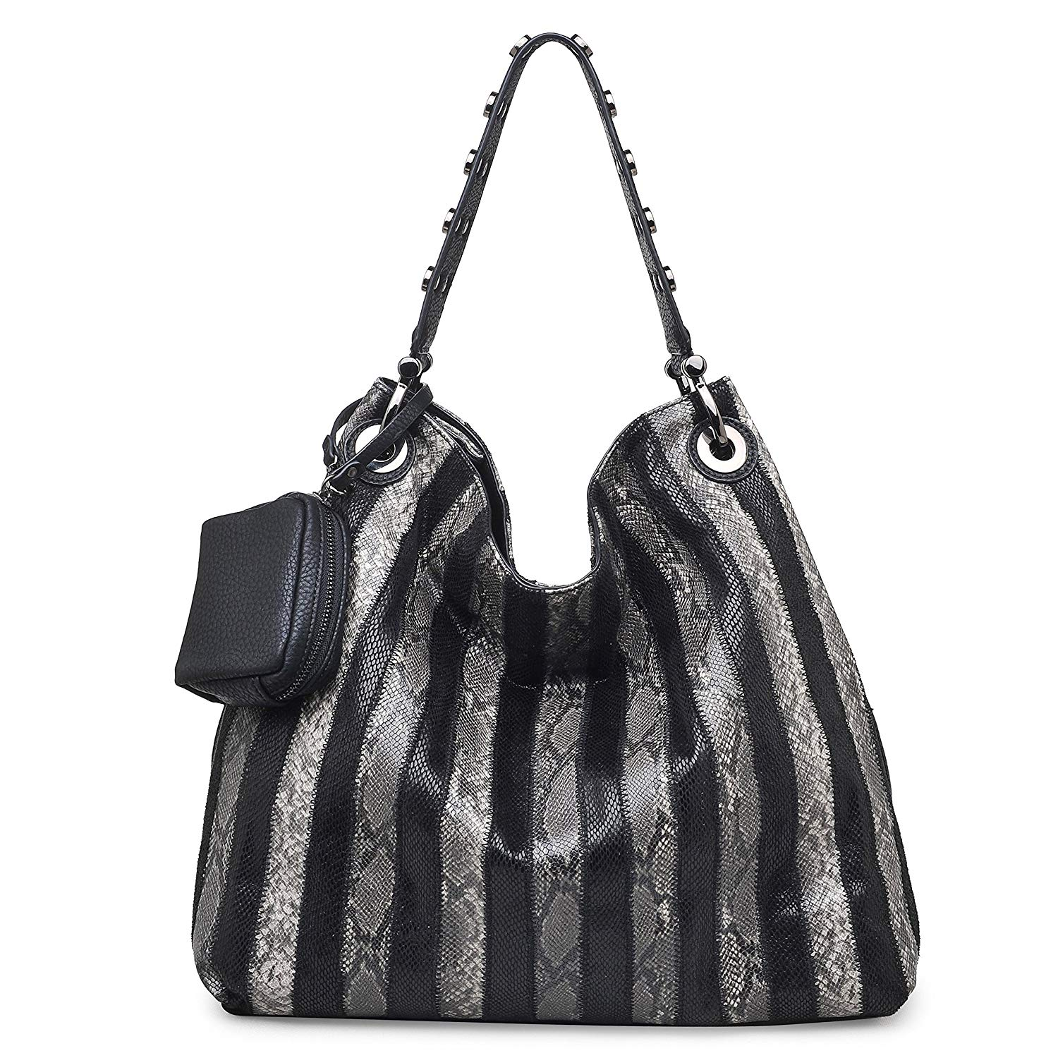 Get Quotations · Urban Expressions Amara Vegan Leather Snake Print Hobo  Handbag f70e7f6784