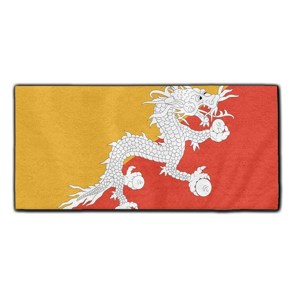 ChunLei Bhutan Flag Washcloths Face Towel Hair Care Towel Gym And Spa Towel Kitchen Dish Towel