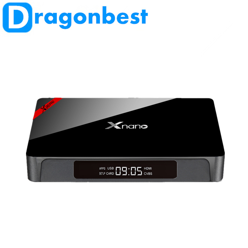 X96 Pro Xnano S905X 2G 16G t95m android tv box advertising media player with high quality Android 6.0 TV Box