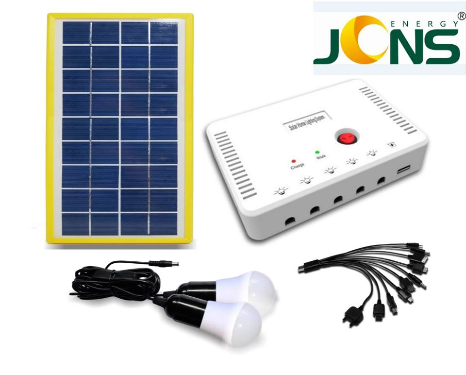 JCNS Photovoltaic Solar Power System 4w Solar Cells Portable Solar Panel System with Mobile Charger