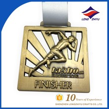 Top quality professional medal producer made brass marathon medal with reasonable price