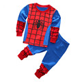 Free Shipping 2016 New cute kids planes pajamas set baby boys girls long sleeve spring autumn