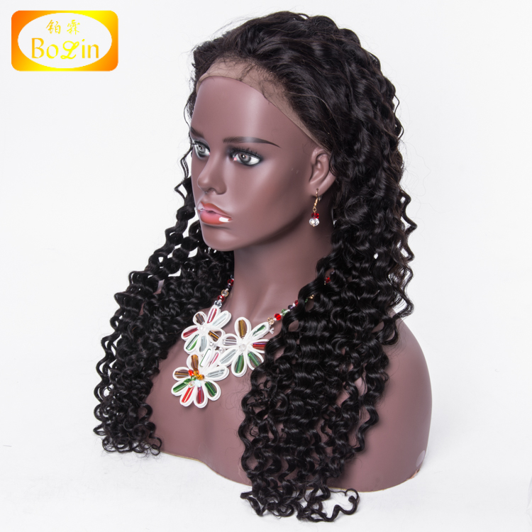 130% Density Full Lace Wig Virgin Human Brazilian Remy Cuticle Aligned Hair, Wholesale Hand Tied wig free shipping