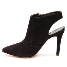 Black Suede Autumn New Open Women High Heels