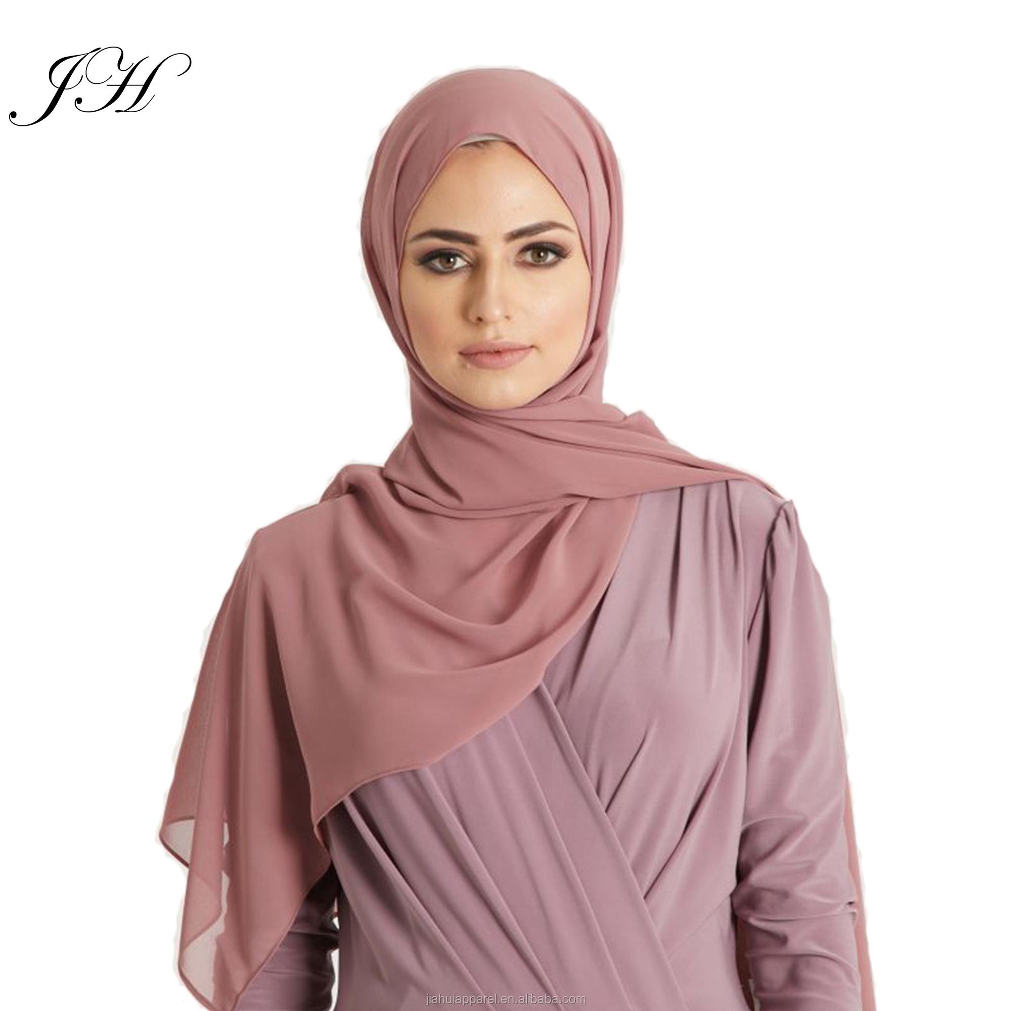 En çok satan yeni Premium 100 renk malezya müslüman düz kalın ağır krep inci şifon eşarp şal kadın başörtüsü