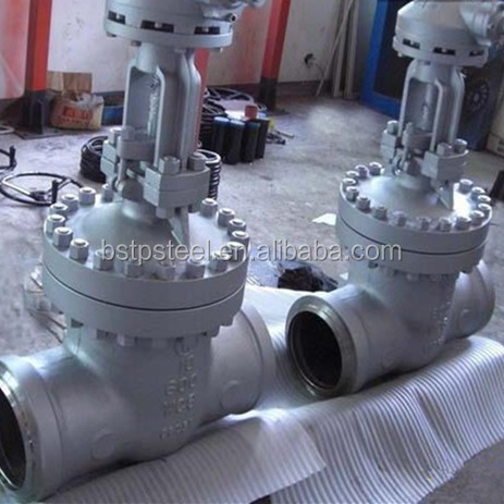 High pressure high temperature Rising Stem Cast steel socket welding Gate valve DIN /JIS / ANSI API6D CF8M 316