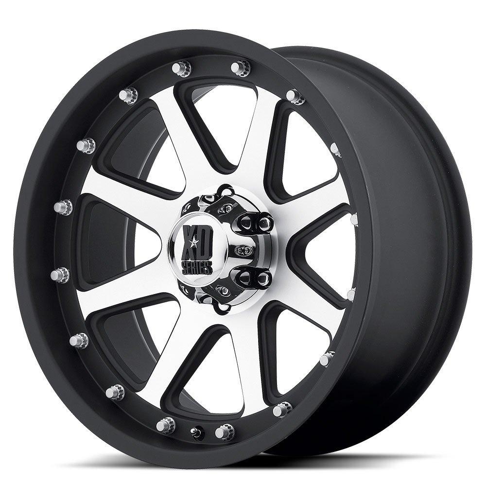 18 Inch 18x9 KMC XD SERIES wheels ADDICT Matte Black Machined wheels rims