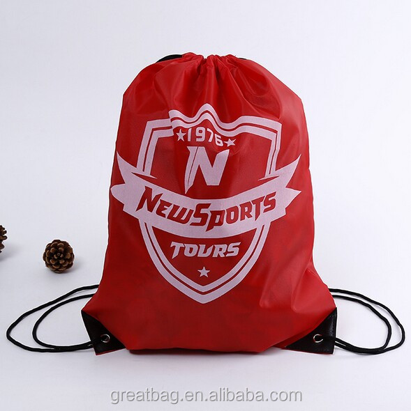 custom red gym drawstring bags