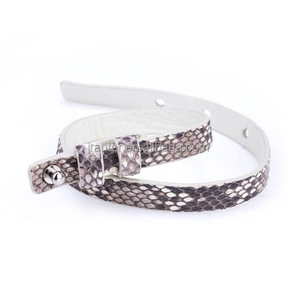 OEM ODM Genuine Leather Bangle Bracelet 100% Python Snakeskin Bracelet