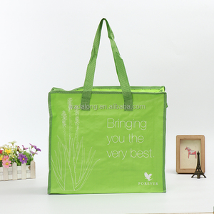 Reusable Large Jumbo Storage Luggage PP Woven Bag With Zipper