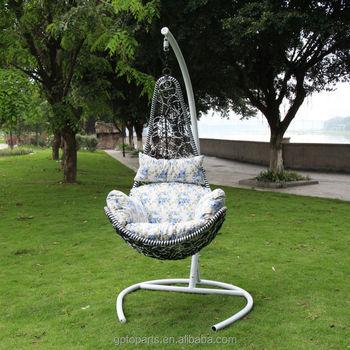 Outdoor Furniture Freestanding Chair Garden Hanging Wicker Swing