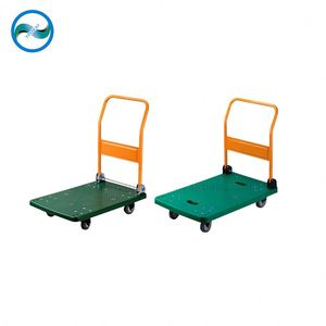tray collapsible plastic cart/handcart/pushcart supplier in China