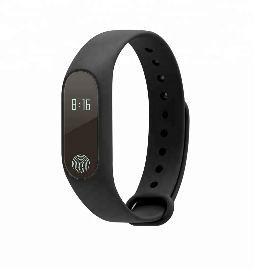 Ce Rohs Pedometer Bracelet Activity Tracker, Fitness Tracker M2 Sport Smart Bracelet With Heart Rate Blood Oxygen, Black;blue;green;orange;purple