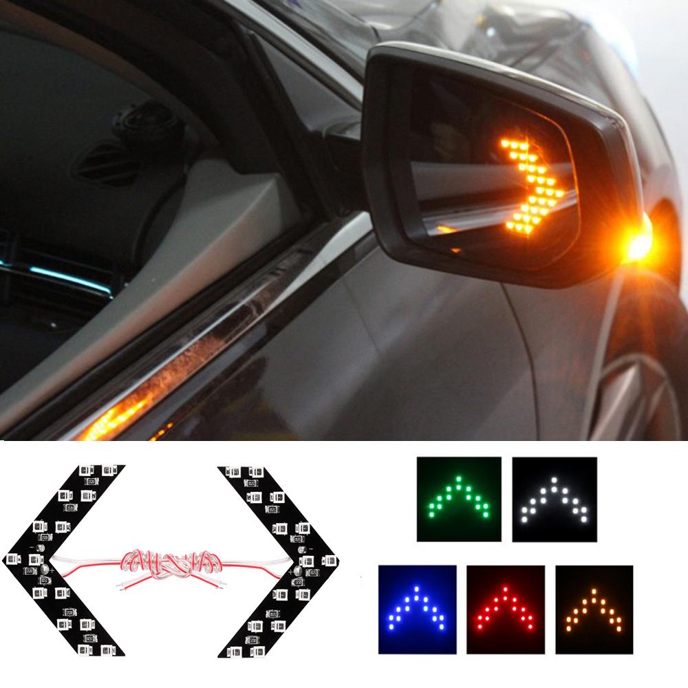1 пара из светодиодов стрелка поверните стрелки свет 5 цветов прячется стиль автомобиля из светодиодов зеркала из светодиодов руководство свет
