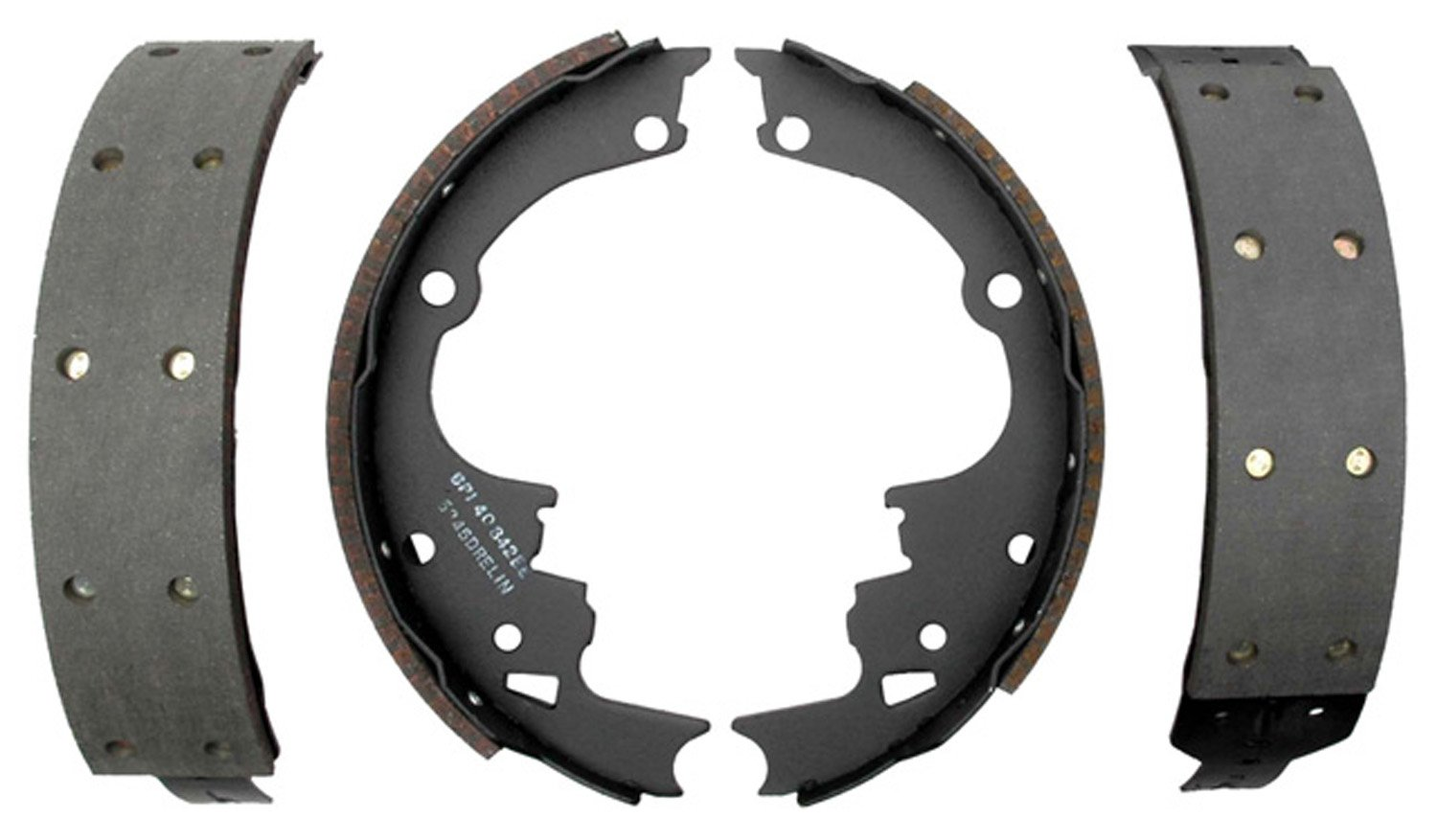ACDelco 17514R Professional Riveted Rear Drum Brake Shoe Set