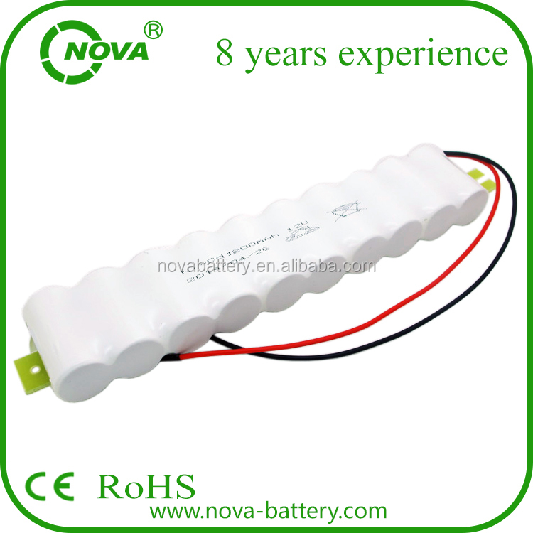 high quality rechargeable ni-cd battery sc 1800mah 12v nicd battery pack