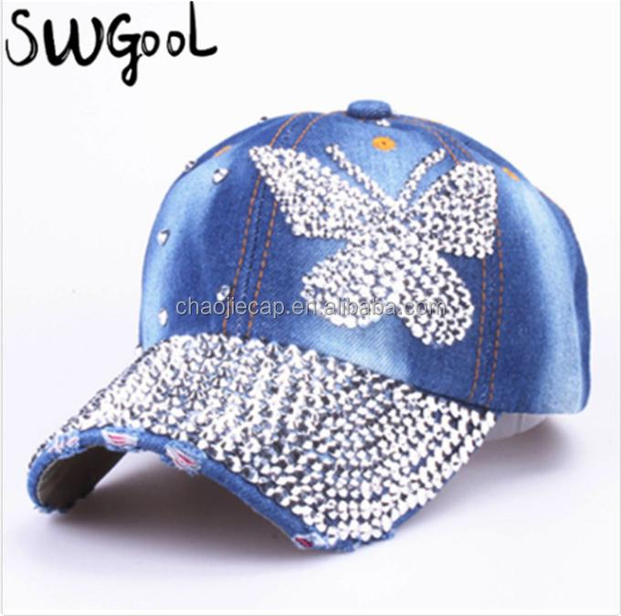 Bling Bling Hats Caps 100% Cotton Custom Logo Baseball Hat And Cap ... a1afdaecf61b