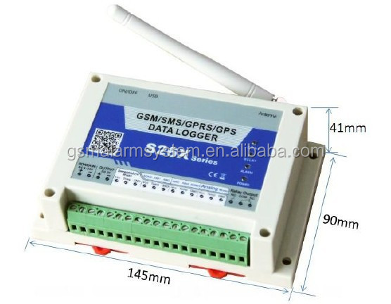 GSM GPRS Analog logger with PC software system, monitor <strong>temperature</strong>, oil flow, humidity, current, voltage, oil level sensor S262