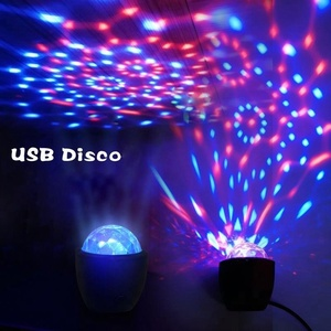 2018 Best Selling 3W 3 LEDs Mini RGB Magic Ball Sound Control Stage Effect USB Music DJ Disco Light