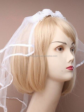 White Veil Alice Band + Roses for Hen Party Bride To Be
