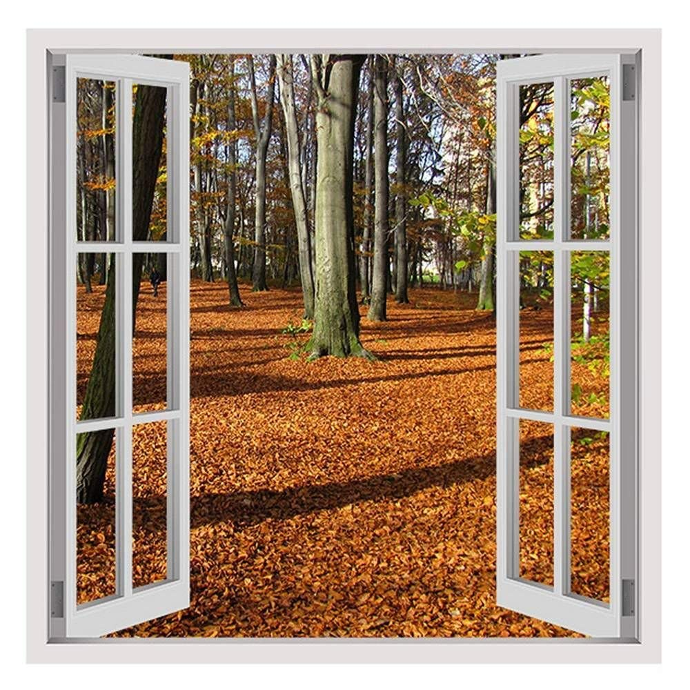 """Fallen Leaves In Poland by Fake 3D Window 