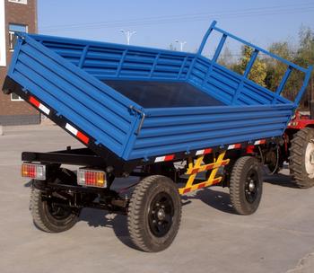 Farm Tools 3 Ton Back Dump Tractor Trailer
