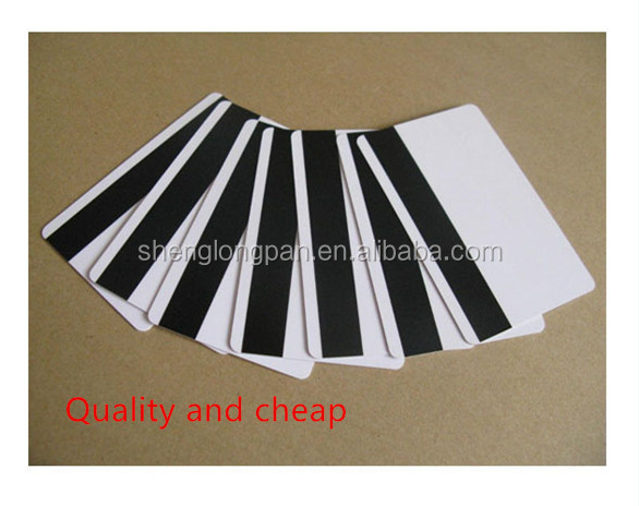 Free Sample PVC Blank Magnetic Stripe Card