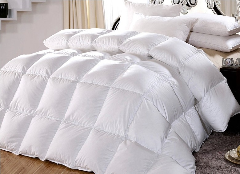 goose down comforter for 6 feet bed king queen twin size 40s fabric 100 cotton cover 30 oz. Black Bedroom Furniture Sets. Home Design Ideas