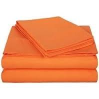 Full Micro Fiber Sheet Set - Soft and Comfy - By Crescent Bedding Orange Full