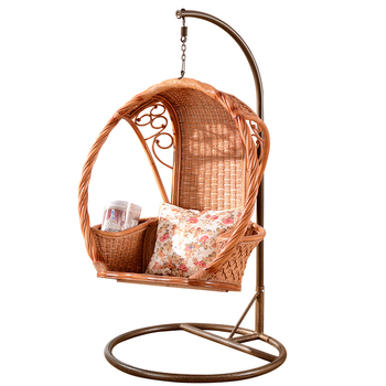 High Quality Indian Cane Wicker Hanging Swing Chair