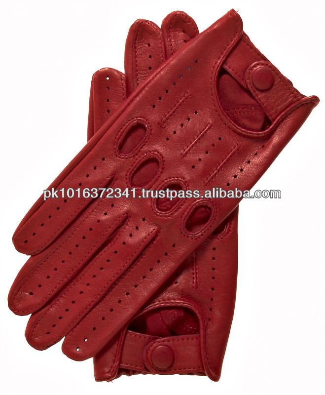 Womens Italian Leather Driving Gloves