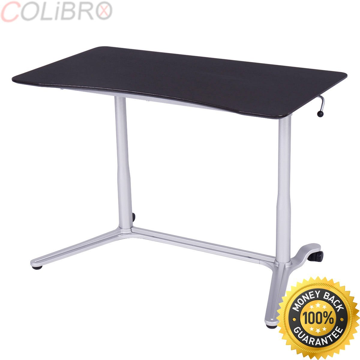 COLIBROX--Height Adjustable Computer Desk Laptop Table Rolling Sit to Stand Notebook New. laptop stand for desk. portable laptop stand foldable. adjustable laptop stand amazon.laptop desk.