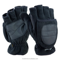 New Black Men Fishing Hunting Wholesale Winter Gloves Thick Fleeces Warm Four Fingers Cheap Sport Gloves