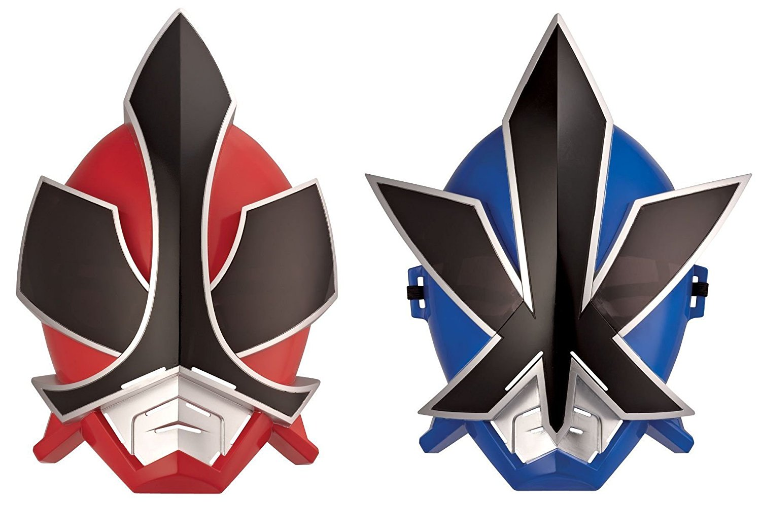 Power Rangers Samurai Red Ranger Mask & Blue Ranger Mask Set
