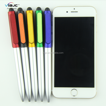 New design pen sensitive touch screen stylus pens with screen cleaner