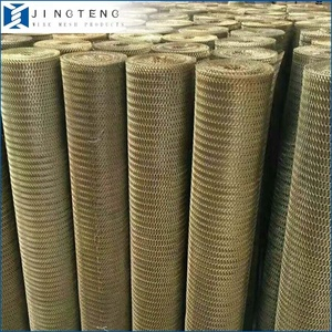 Aluminum Stainless Steel copper Brass Sheet Expanded Metal Mesh for screening