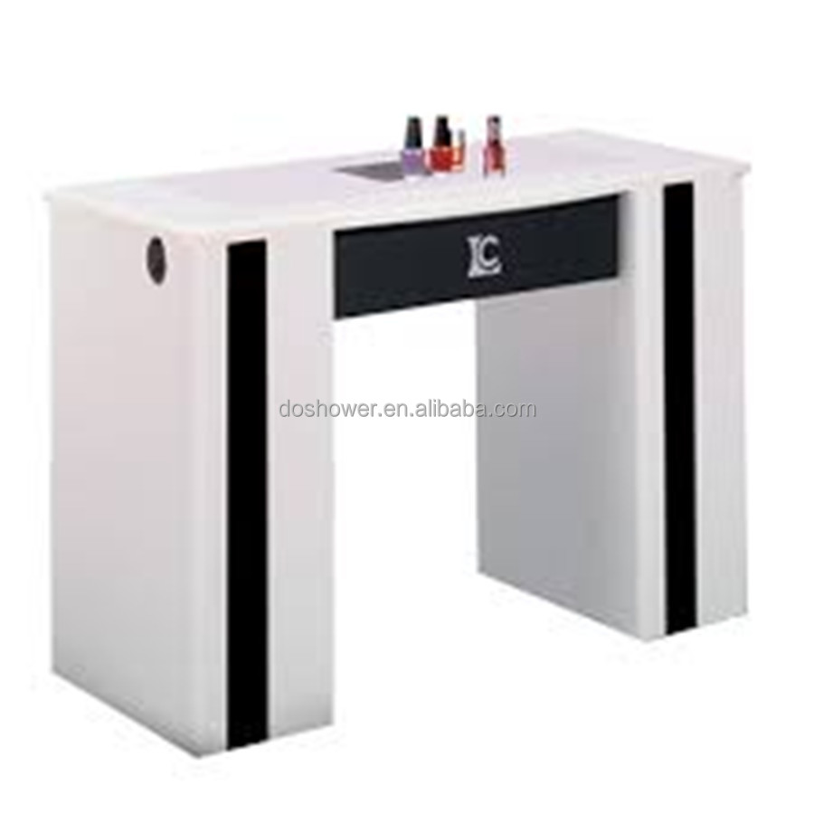 Acrylic Nail Tables With Nail Extractor Fan Of Aspirator For Nail ...