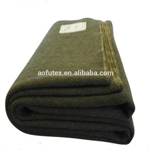 AOFU Explorer Collection merino Wool army Blanket olive green,custom logo,microfiber,made in china