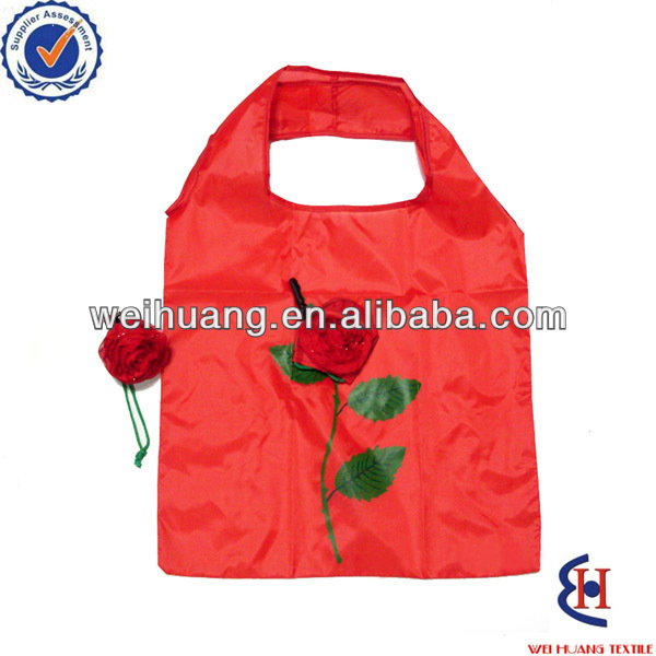 lovely folding shopping bag with flowers