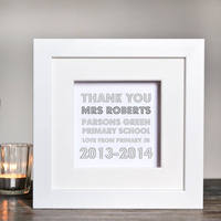 Personalised Thank You Teacher Box Frame