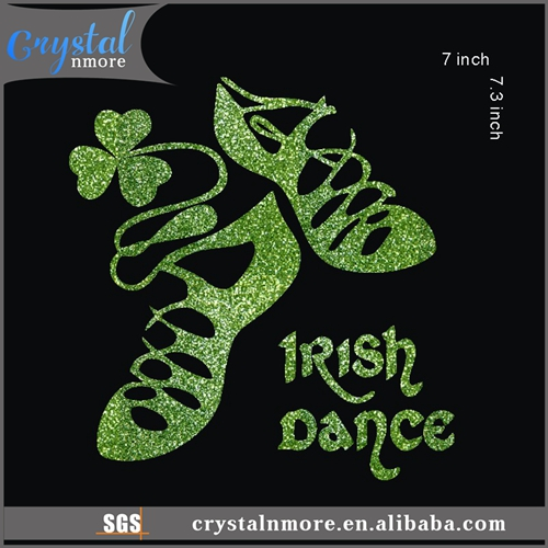 Irish Dance St. Patrick Day Gitter Heat Transfer Vinyl for T Shirts