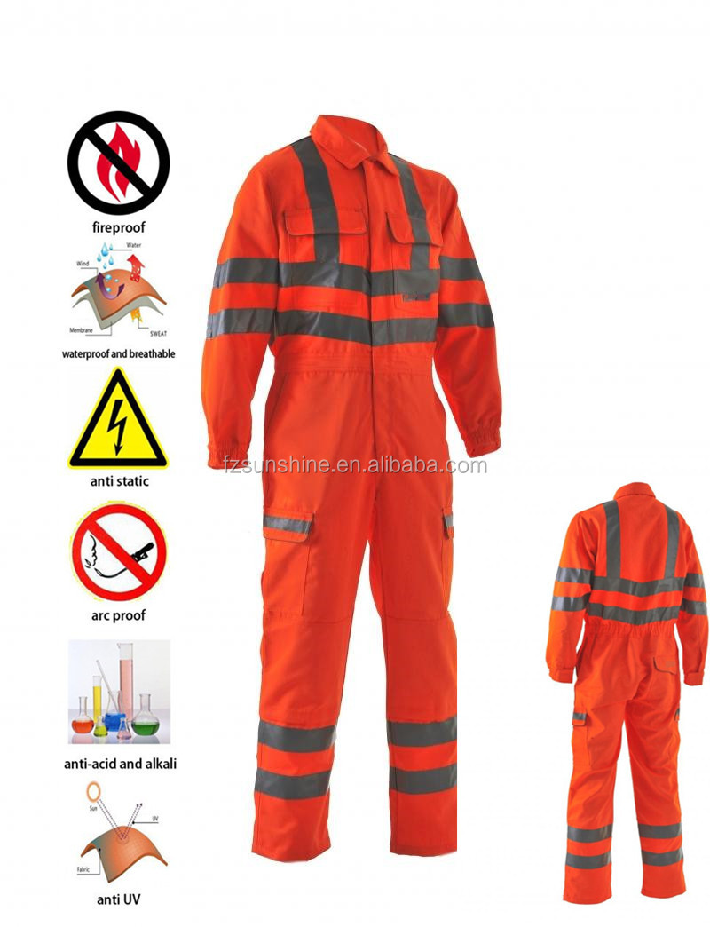Cheap Fire Retardant Clothing >> Flame Retardant Safety Coverall Workwear With Reflective ...