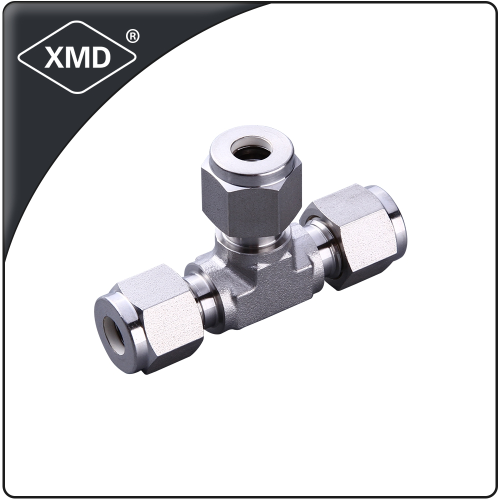 XMD Equal/Reducing stainless steel 304 316 male/female Run Tee fitting