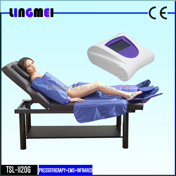 Portable Air wave far infrared pressotherapy slimming machine / pressotherapy and strong deep lymphatic stimulation massager