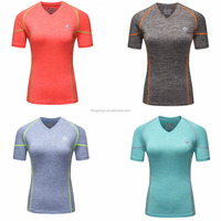 4 Colors Gym Compression Shirts Women Sport T-shirts Dry Quick Running Short Sleeve T-shirts Fitness Clothes Tees & Tops