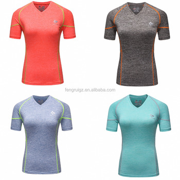 4 Colors Gym Compression Shirts Women Sport Dry Quick Running Short Sleeve  T-shirts Fitness 07179fa56f88