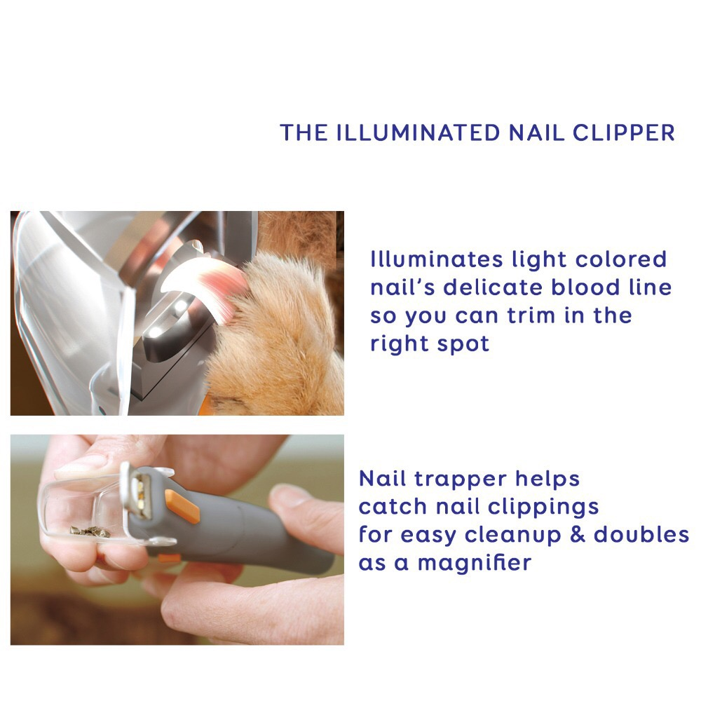 Amazon hot selling  LED Light Cleaning Beauty Cutter - Professional for Cats & Dogs The Illuminated Pet Nail Clipper