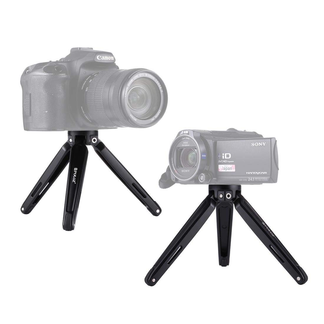 HITSAN PULUZ PU3014B Pocket Mini Metal Desktop Tripod Mount for DSLR Camera 4.5-15cm Max Load 20kg One Piece