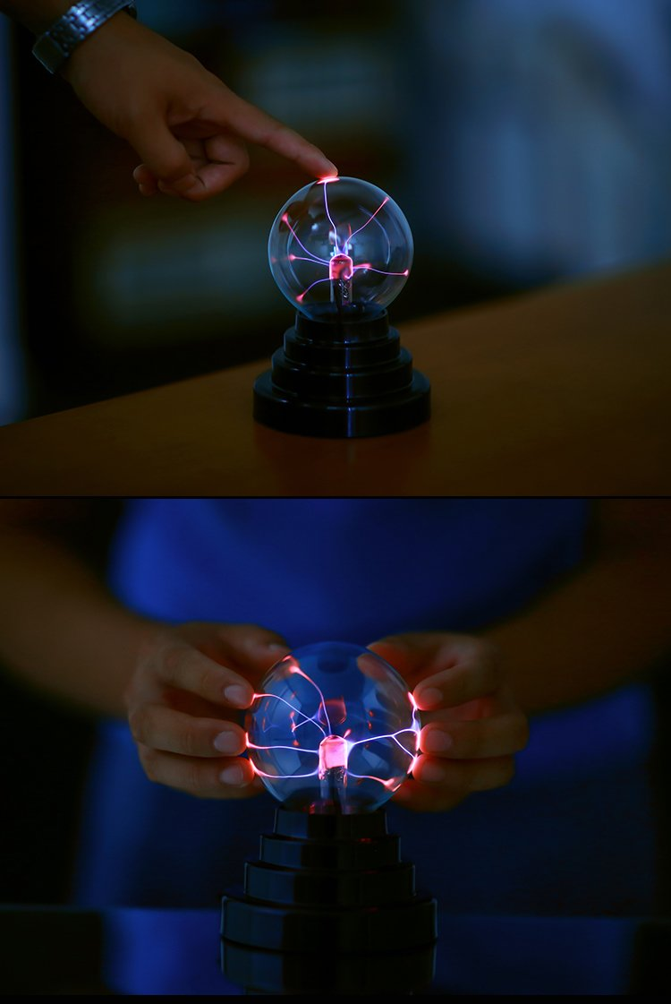 3'' inch USB Plasma Sphere LED Crystal Magic Ball Light static electricity anion Magic plasma ball