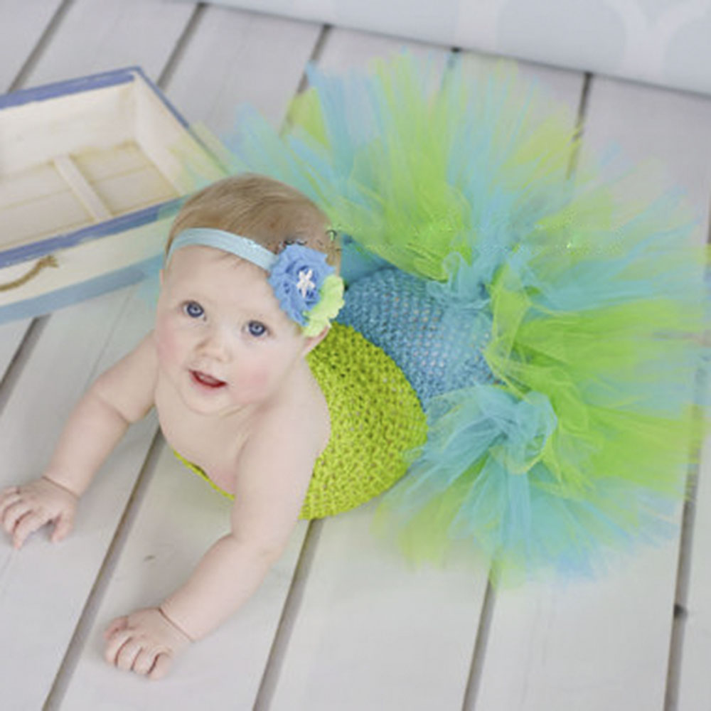 Baby Mermaid Ariel Fishtail Tutu font b Dress b font Infant Toddler Princess font b Fancy
